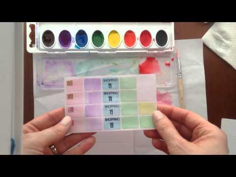 DIY Watercolor Planner Stickers (Filofax Malden, Color Crush)