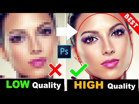 How To Depixelate Images And Convert Into High Quality Photos In Photoshop 1 Click Magic Actions