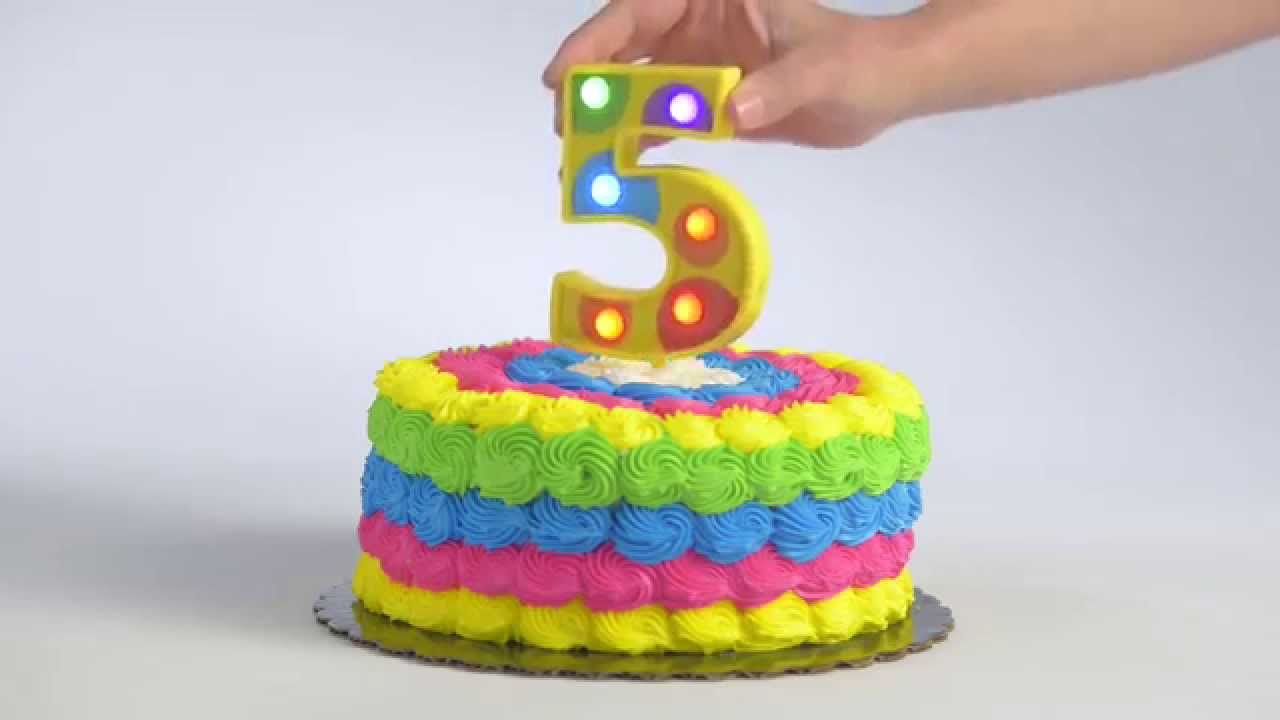 Flashing Number 5 Cake Decoration Youtube