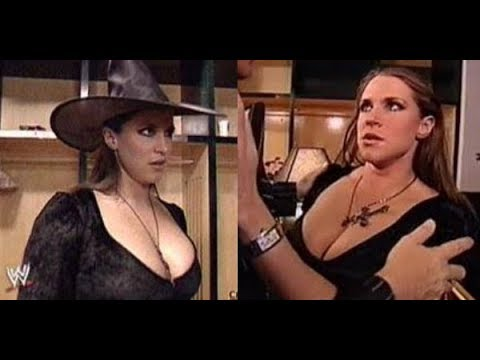 WWE Stephanie McMahon kiss in Halloween Party Backstage SmackDown, Oct. 31, 2002 thumbnail