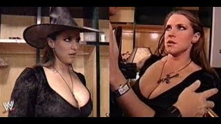 Download Video WWE Stephanie McMahon kiss in Halloween Party Backstage SmackDown, Oct. 31, 2002 MP3 3GP MP4