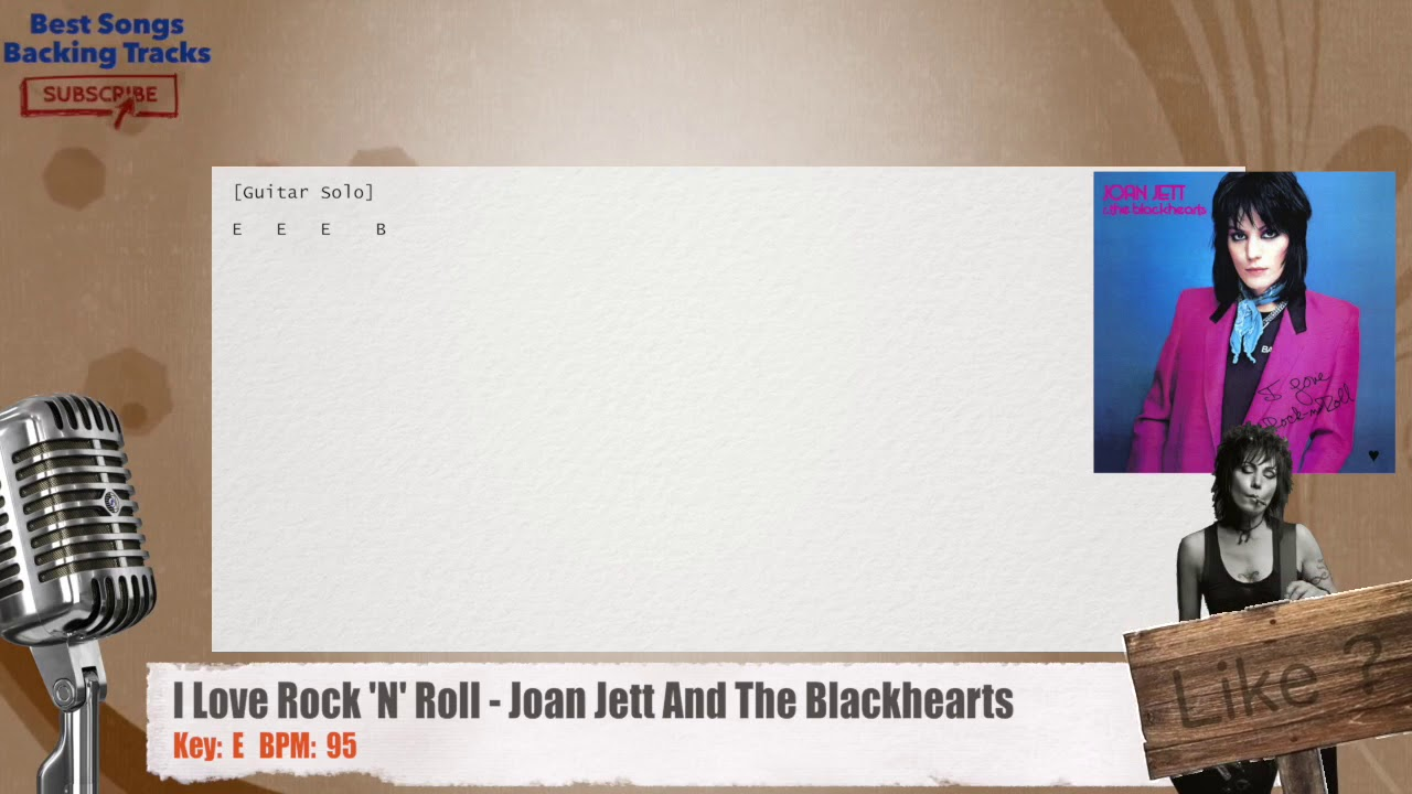 I Love Rock N Roll Joan Jett And The Blackhearts Vocal Backing Track With Chords And Lyrics Youtube