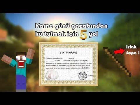 Karne Günü Gazabından Kurtulmak İçin 5 Yol (Minecraft)