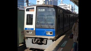 西武6000系 6001F 西武新宿発車