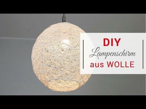 DIY Lampenschirm Aus Wolle