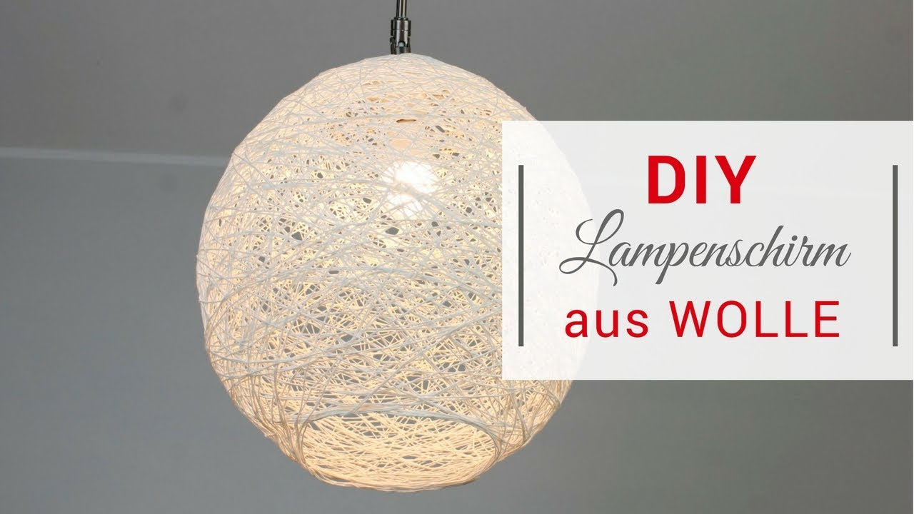 diy lampenschirm aus wolle youtube. Black Bedroom Furniture Sets. Home Design Ideas