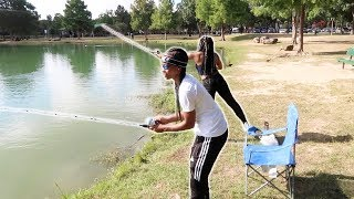OUR FIRST TIME GOING FISHING...We Caught What?
