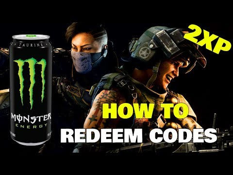 HOW TO redeem COD Black Ops 4 MONSTER ENERGY double xp codes