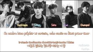 EXO - First Love (첫사랑) Korean Version [ Sub Español /Romanizacion/Hangul] (Color Coded)