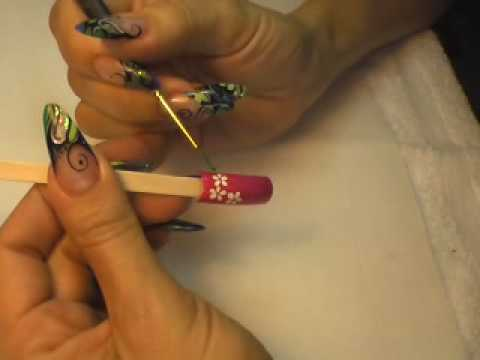 Plumeria Flower Nail Art Tutorial