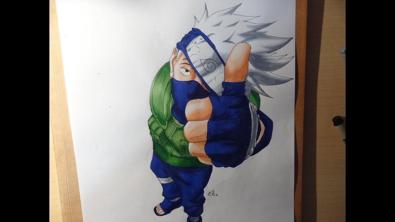 Drawing kakashi hatake dessiner kakashi hatake youtube - Dessin kakashi ...