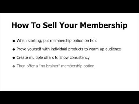 How To - Membership Site Models for Online Business