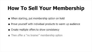 How To - Membership Site Models for Online Business(, 2013-09-18T16:52:51.000Z)