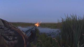 Охота на утку осенью с подхода видео