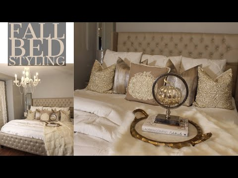 HOW TO MAKE YOUR ROOM COZY   FALL BED STYLING   BEDROOM TOUR