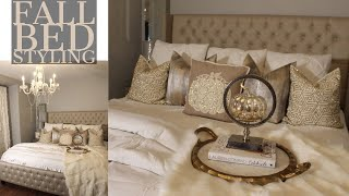 HOW TO MAKE YOUR ROOM COZY | FALL BED STYLING | BEDROOM TOUR