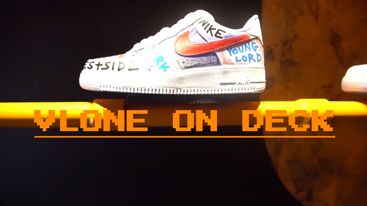 57cfd595180a VLONE X A AP BARI NIKE AIR FORCE 1 CUSTOM - YouTube