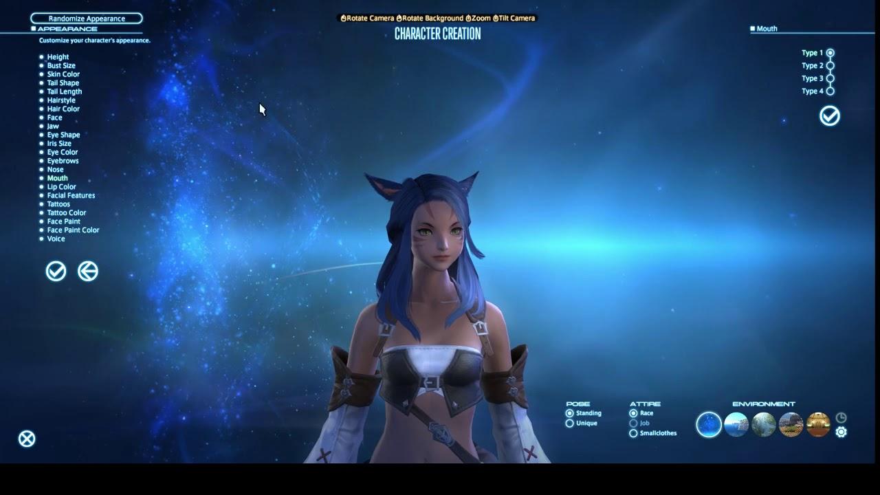 FFXIV - Online   Character Creation - Miqo'te (F)