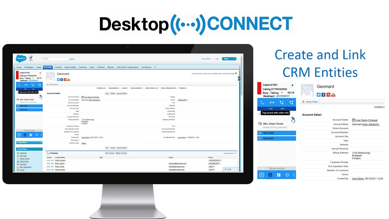 Desktop Connect: Call Center, CTI, Click-to-Dial, Screen pop, Telephony,  Voice