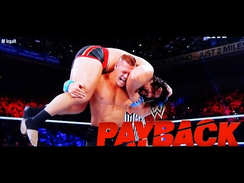 WWE Payback 2015 United States Champion John Cena vs. Rusev I Quit FULL MATCH REVIEW