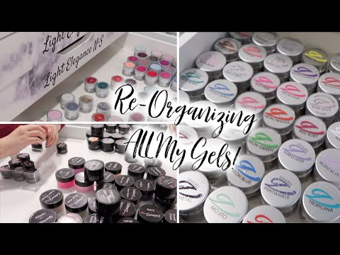 Re-Organizing My Entire Nail Art Collection! | Nail Studio Vlog
