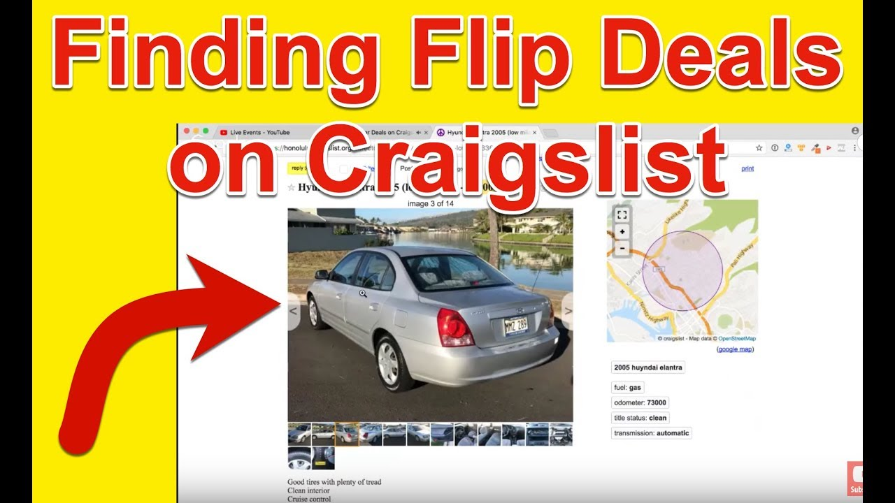 Finding Car Deals on Craigslist - How To Flip Cars - YouTube