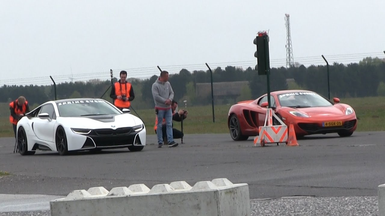 Dragrace Bmw I8 Vs Mclaren Mp4 12c Vs Ferrari Speciale Aperta Vs