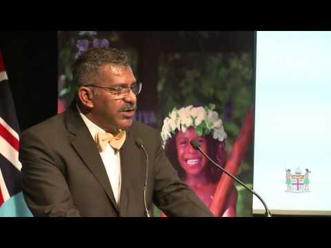 Fijian Minister for Tourism  Hon. Faiyaz Koya opens Fiji Tourism Industry Day