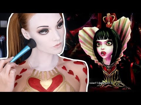 QUEEN OF HEARTS MAKEUP TUTORIAL (Clothing also makeup!)