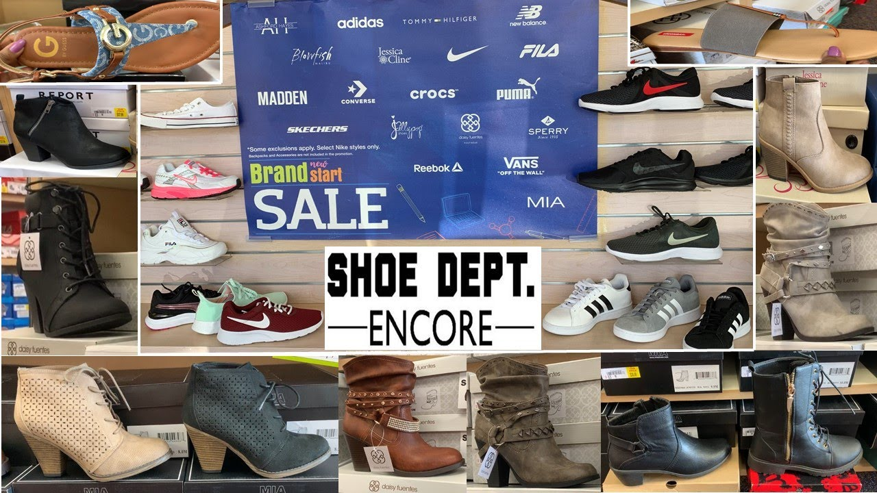 Shoe Dept. Winter Sale   Shoes Sneakers Boots Sandals For Less   Shop With Me August 2019