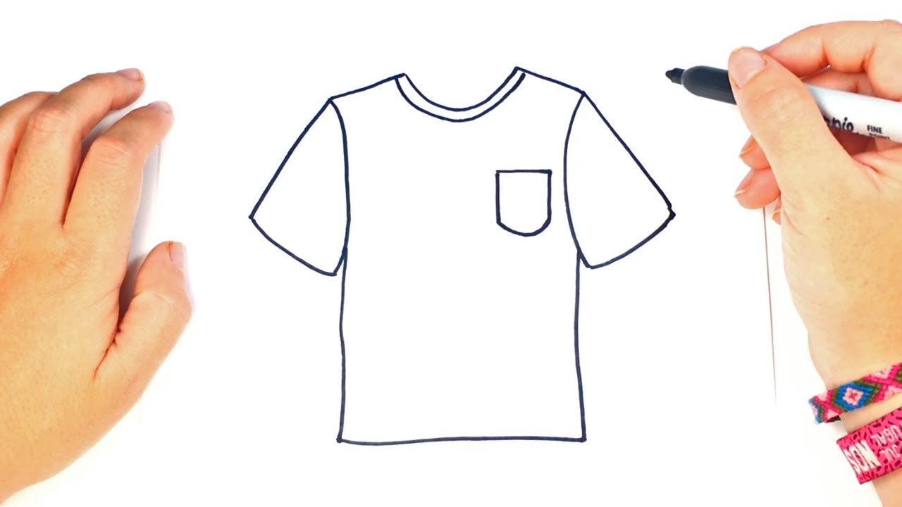 how to draw a t shirt step by step youtube