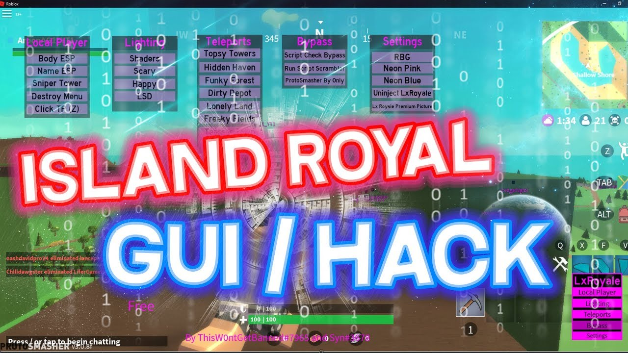OMG ISLAND ROYAL HACK SCRIPT / GUI | ROBLOX | AIMBOT, TELEPORTS, & MORE |  WORKING by Arpon Adventure Gamer