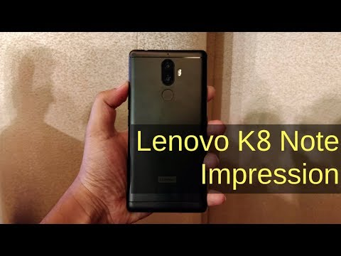 Lenovo K8 Note (3GB) Review Videos
