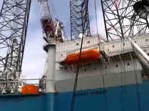 Deliver container to Rig Rowan Norway