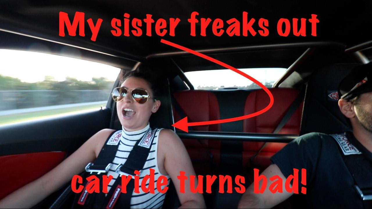 taking my sister in my 1000hp camaro turns bad! - youtube