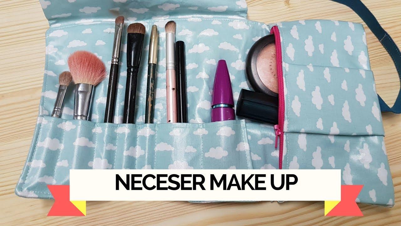 0f7225c19 Tutorial como hacer un neceser de maquillaje roll up de viaje - YouTube