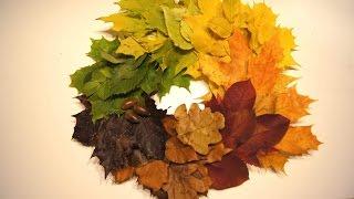 осенний декор - венок из листьев