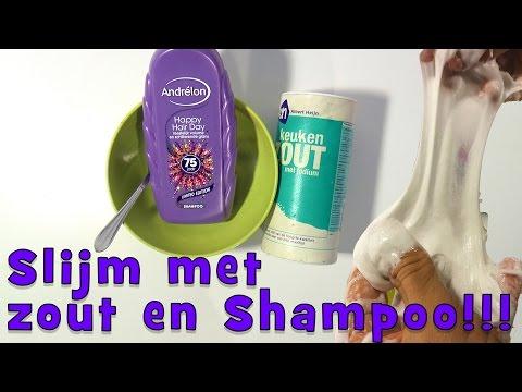 Slijm met zout en shampoo! ZONDER lijm en lens vloeistof of Borax!