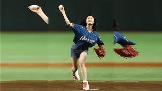 NGT48・長谷川玲奈、大谷の3戦連発に笑顔.