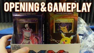 pokemon cards pikachu power xy evolutions theme deck opening gameplay