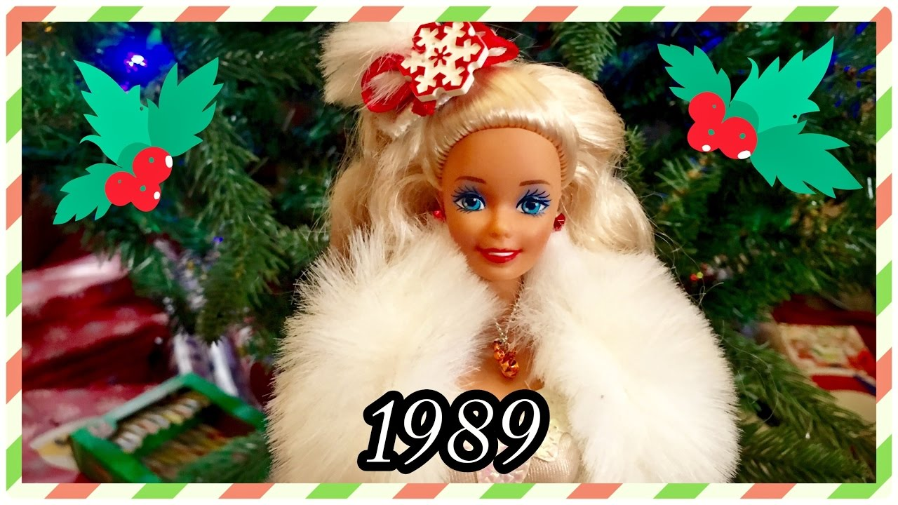 1989 / 28 Years of Holiday Barbie Dolls! / Christmas Collection ...