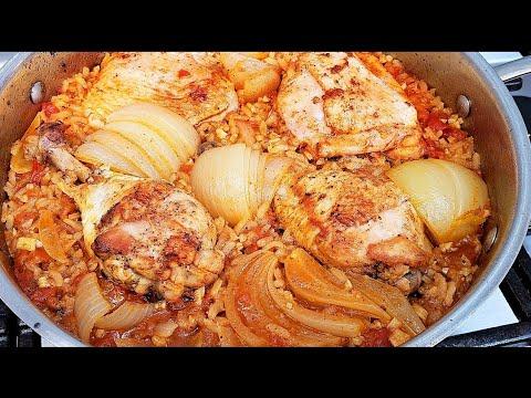 ARROZ CON POLLO | Mexican Style Chicken And Rice Recipe | Simply Mama Cooks