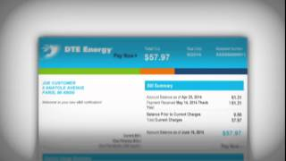 DTE Energy residential eBill email notification