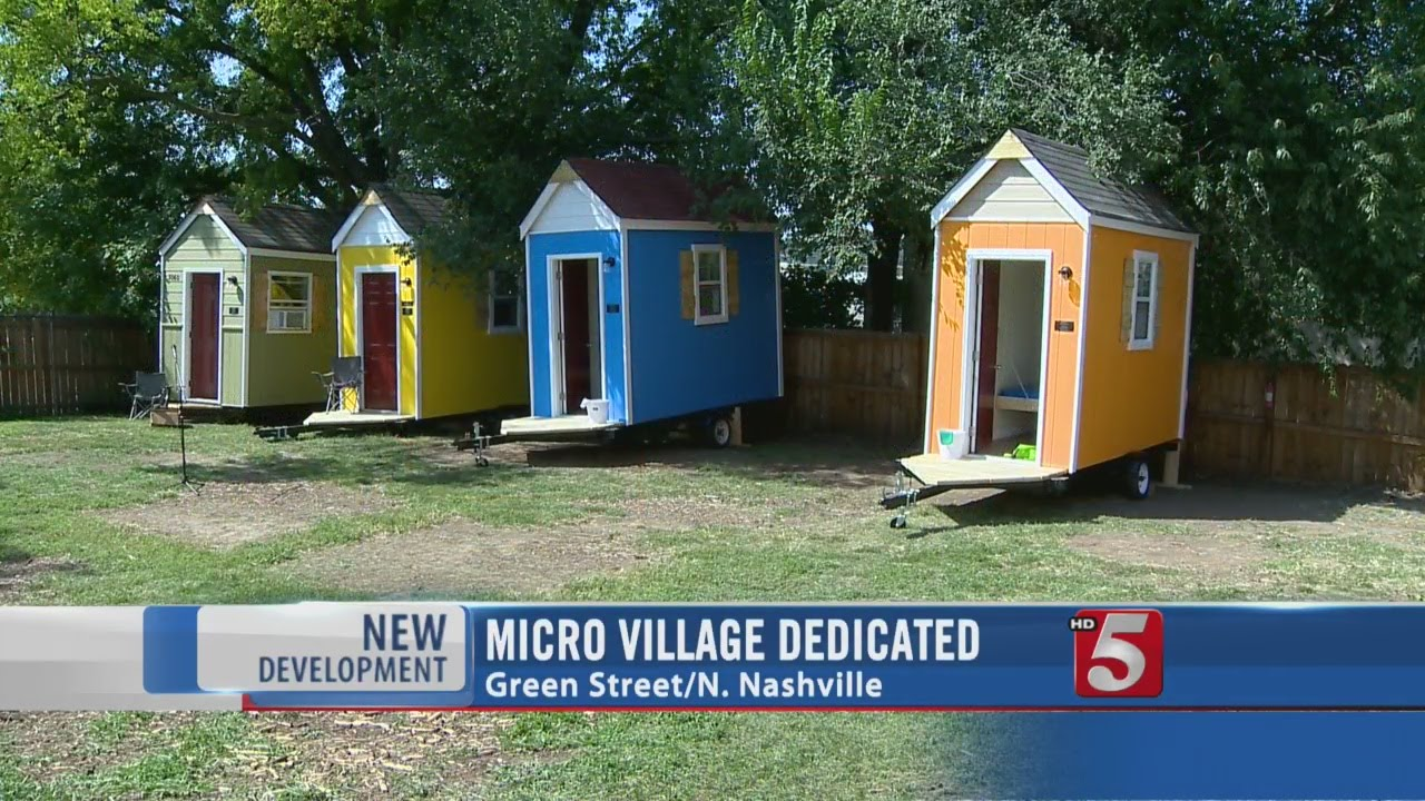 Village Dedicated In North Nashville To Micro Homes YouTube