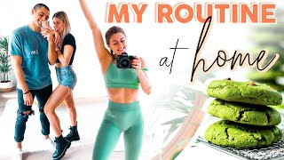 DAY IN THE LIFE // Staying Healthy at Home + My Routine!