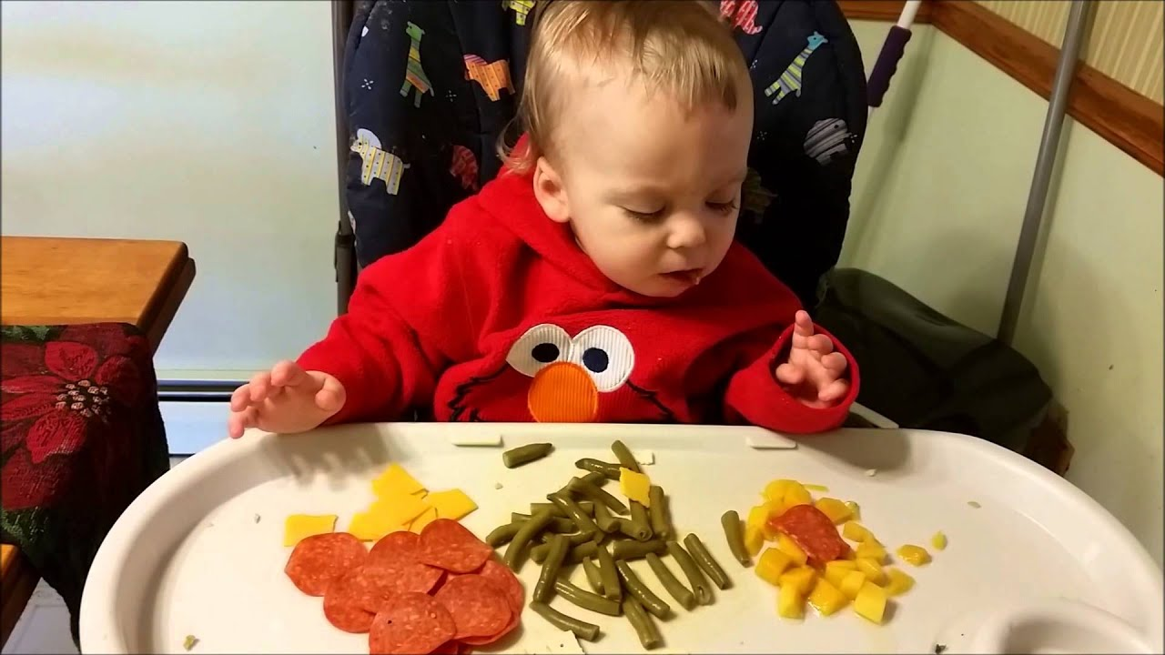 Baby Eats Pepperoni, Cheddar Cheese, Crackers, Green Beans ...