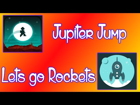 Lets Go Rockets & Jupiter Jump- Iphone Gameplay!