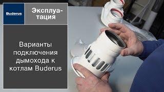 Варианты подключения дымохода к котлам Buderus