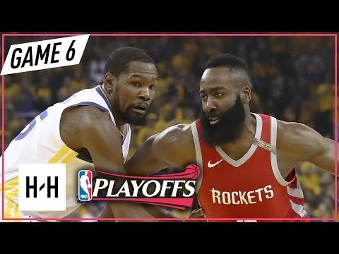 Kevin Durant vs James Harden DUEL Full Game 6 Highlights Rockets vs Warriors 2018 NBA Playoffs WCF