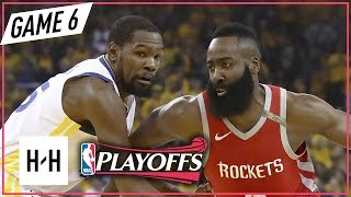 Kevin Durant vs James Harden DUEL Full Game 6 Highlights Rockets vs Warriors 2018 NBA Playoffs WCF